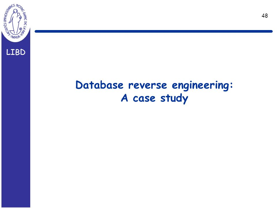 LIBD 48 Database reverse engineering: A case study