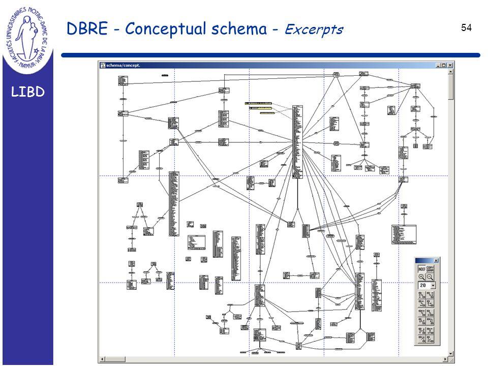 LIBD 54 DBRE - Conceptual schema - Excerpts