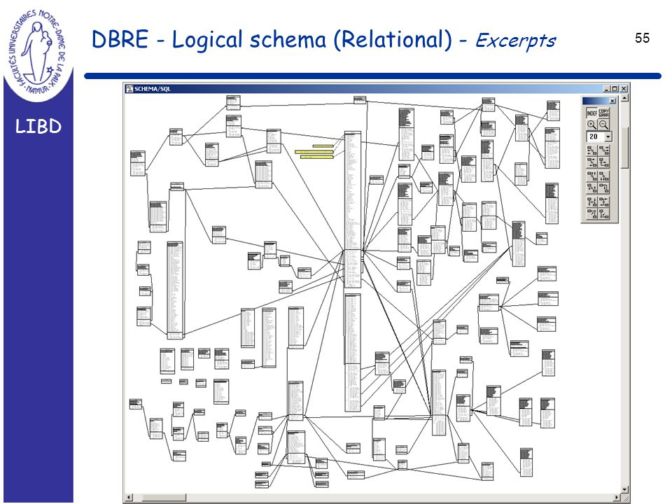 LIBD 55 DBRE - Logical schema (Relational) - Excerpts