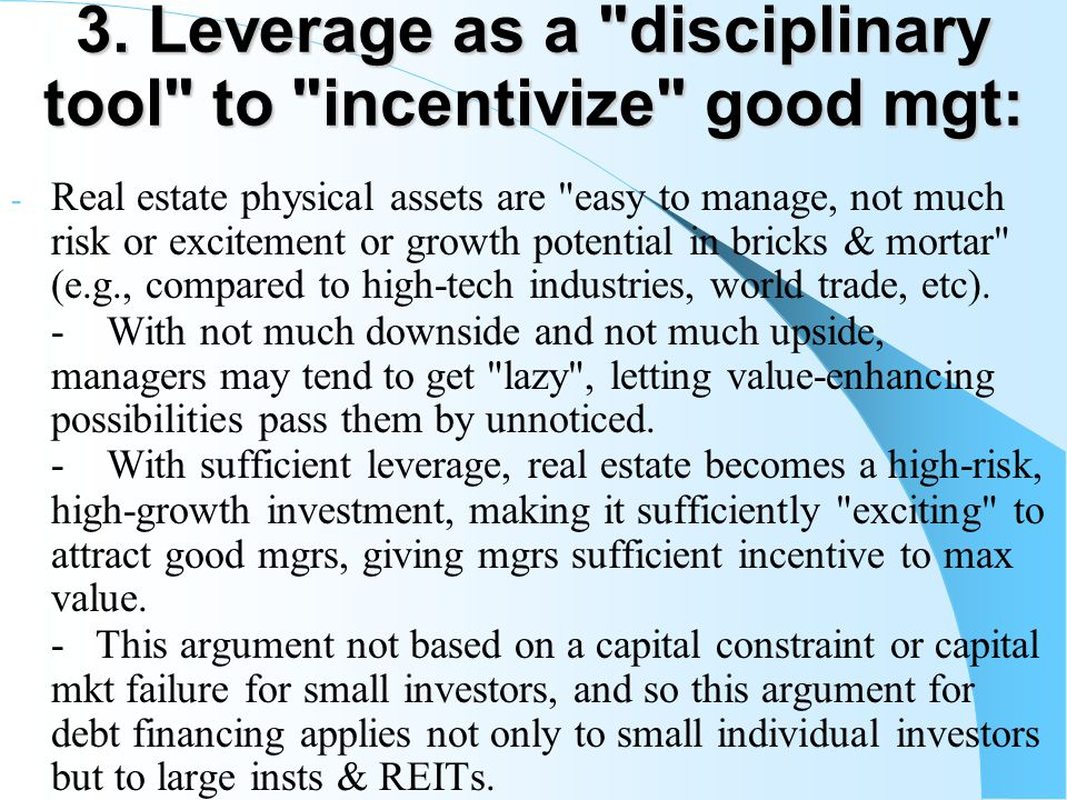 3. Leverage as a