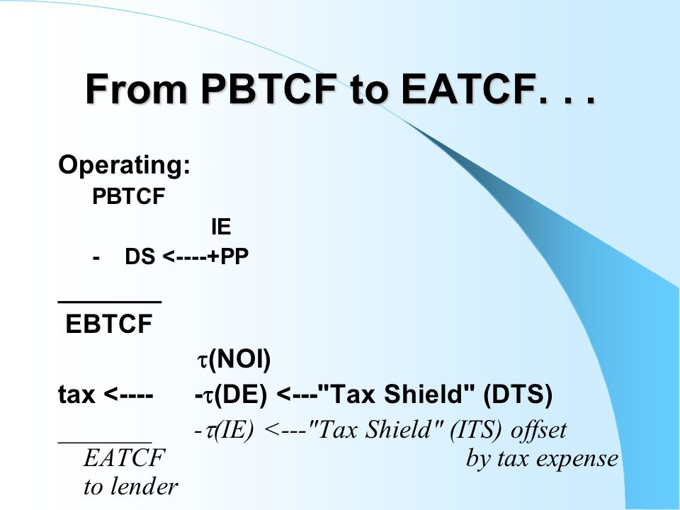 From PBTCF to EATCF...