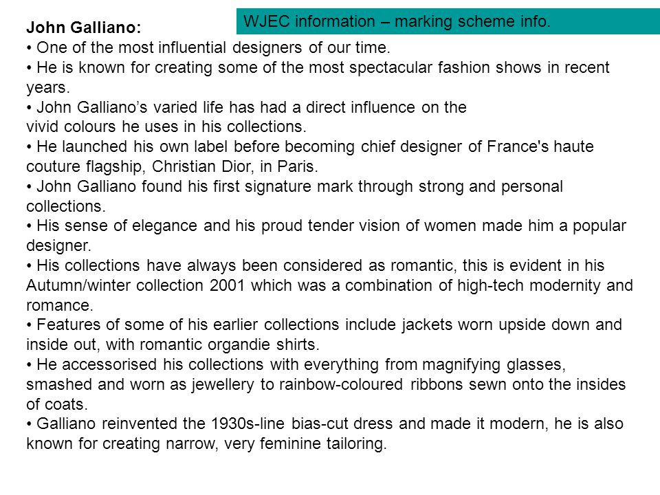 John Galliano: One of the most influential designers of our time.