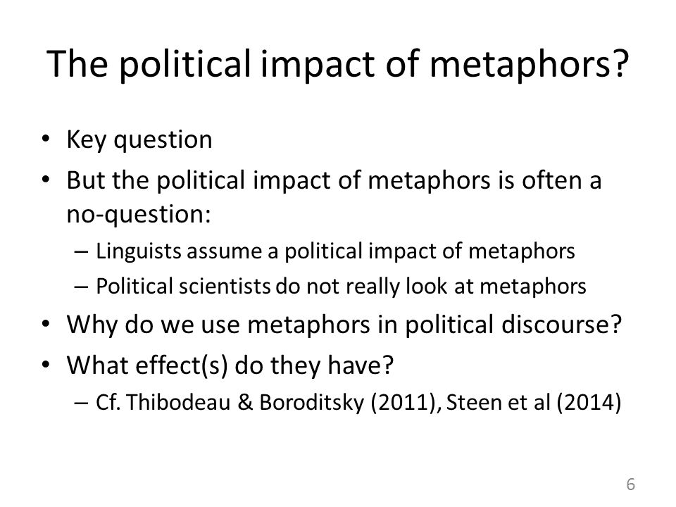 The political impact of metaphors.
