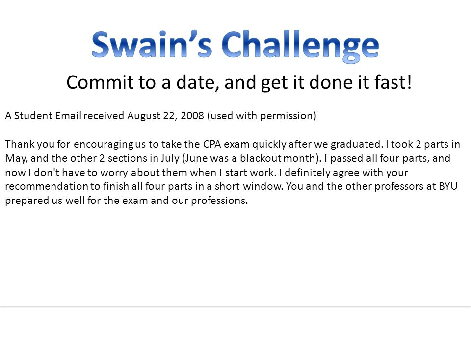 Commit to a date, and get it done it fast.