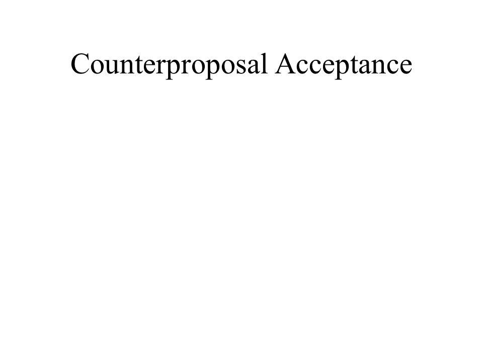 Counterproposal Acceptance