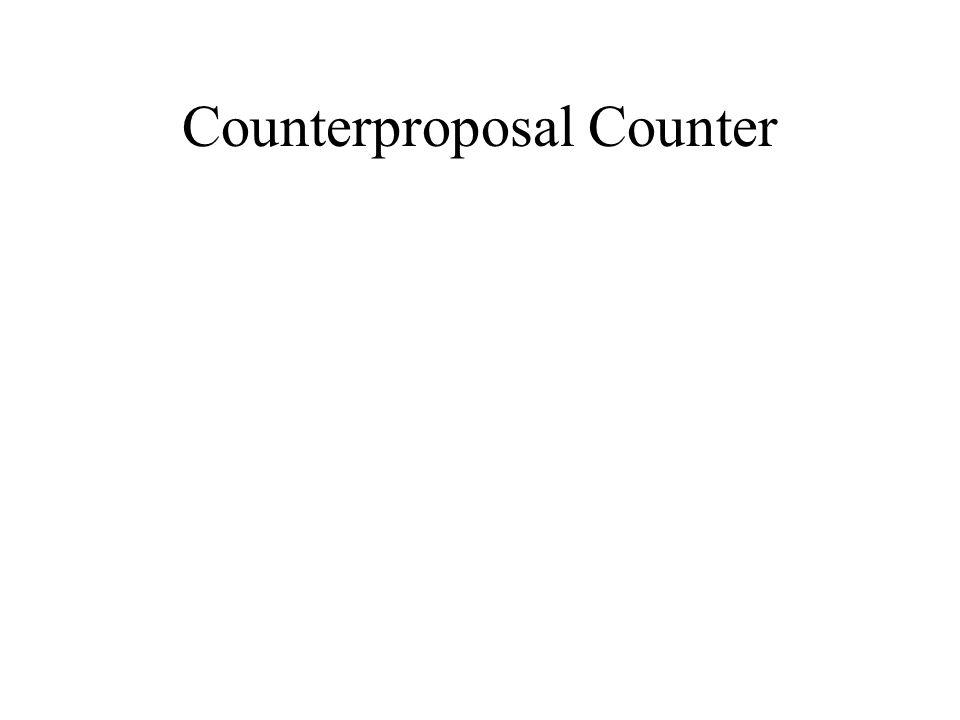 Counterproposal Counter