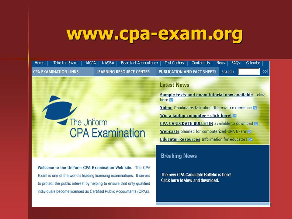 31 www.cpa-exam.org