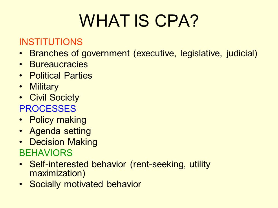 CPA AS A SCIENTIFIC ENDEAVOR WHO IS PRODUCING KNOWLEDGE.