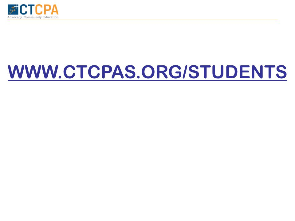 WWW.CTCPAS.ORG/STUDENTS