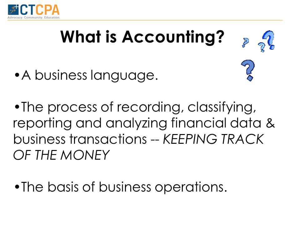 What is Accounting. A business language.