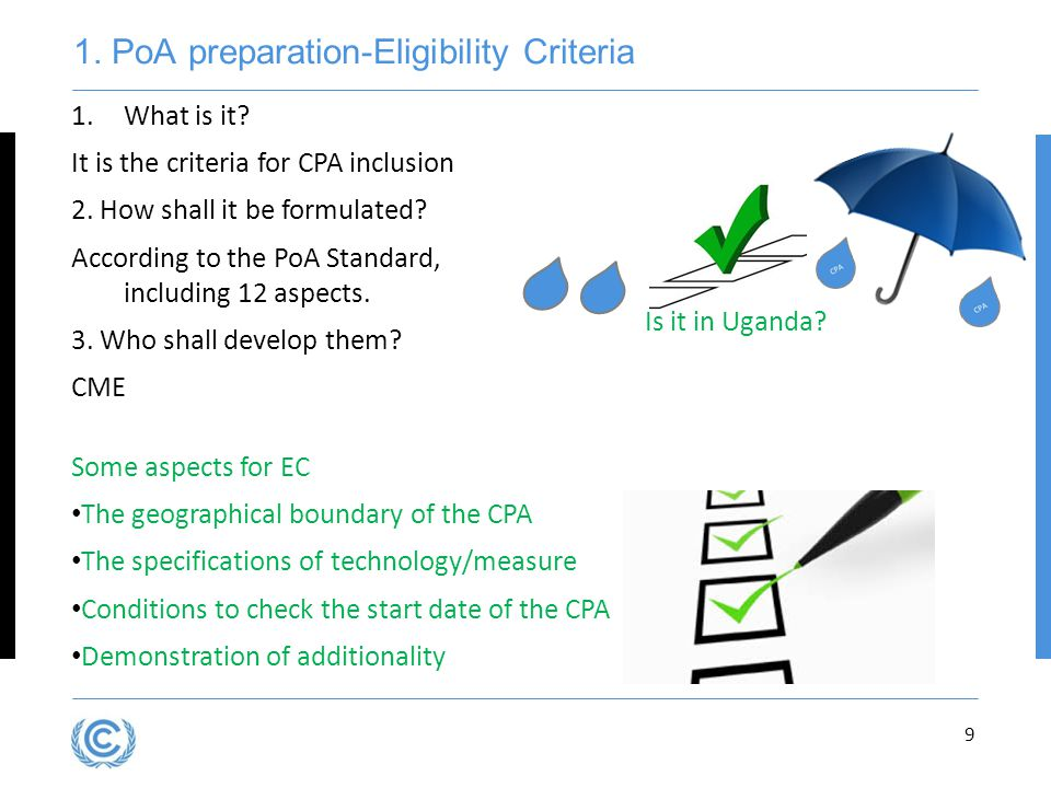 1.PoA preparation-Eligibility Criteria 9 1.What is it.