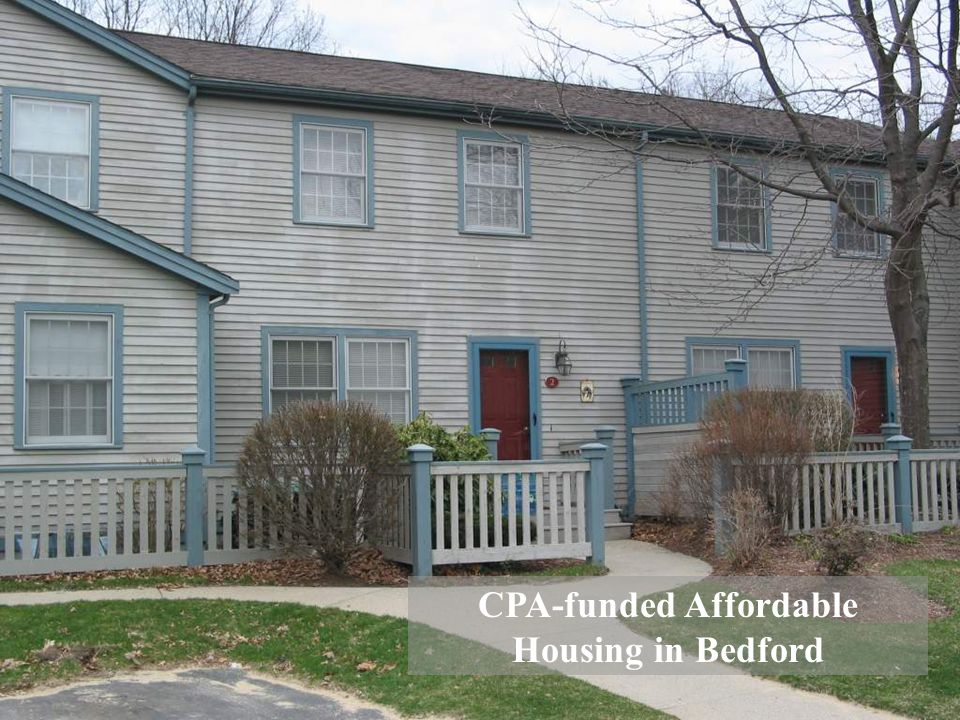 CPA-funded Affordable Housing in Bedford