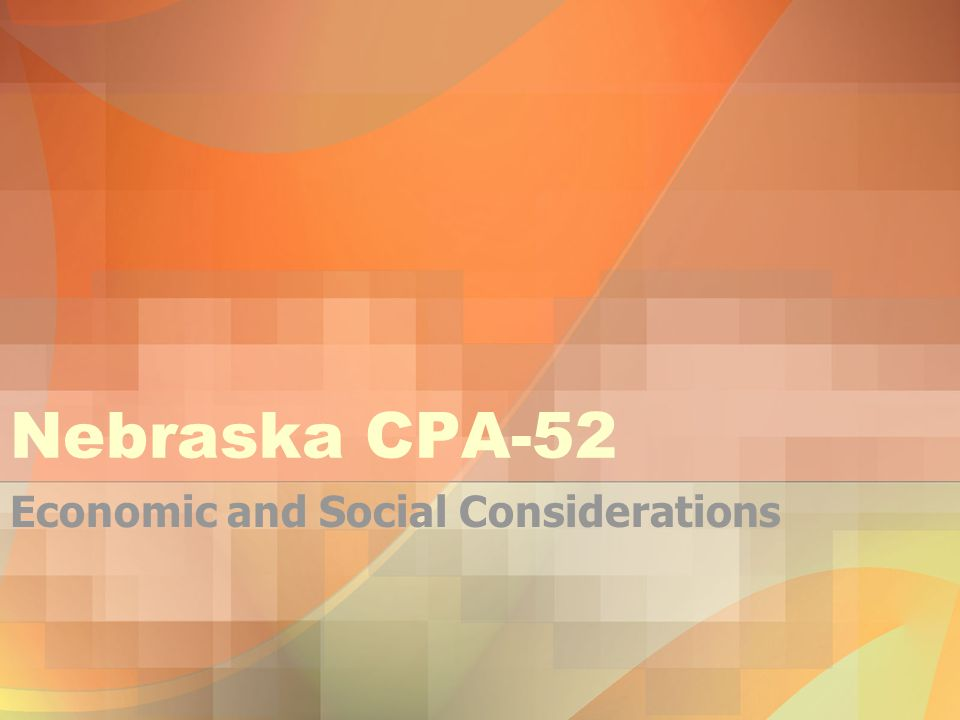 There are seven categories to evaluate when looking at Economic and Social Considerations –Land Use –Capital –Labor –Management Level –Profitability –Risk –Social Issues/Other