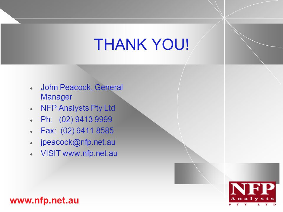 www.nfp.net.au THANK YOU.