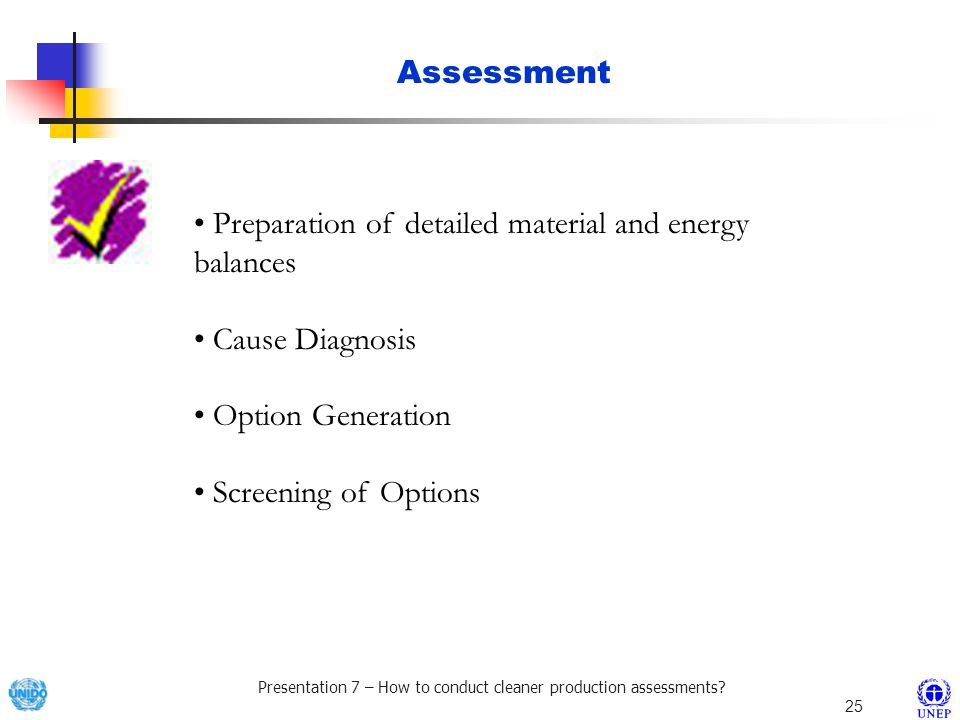 Presentation 7 – How to conduct cleaner production assessments.