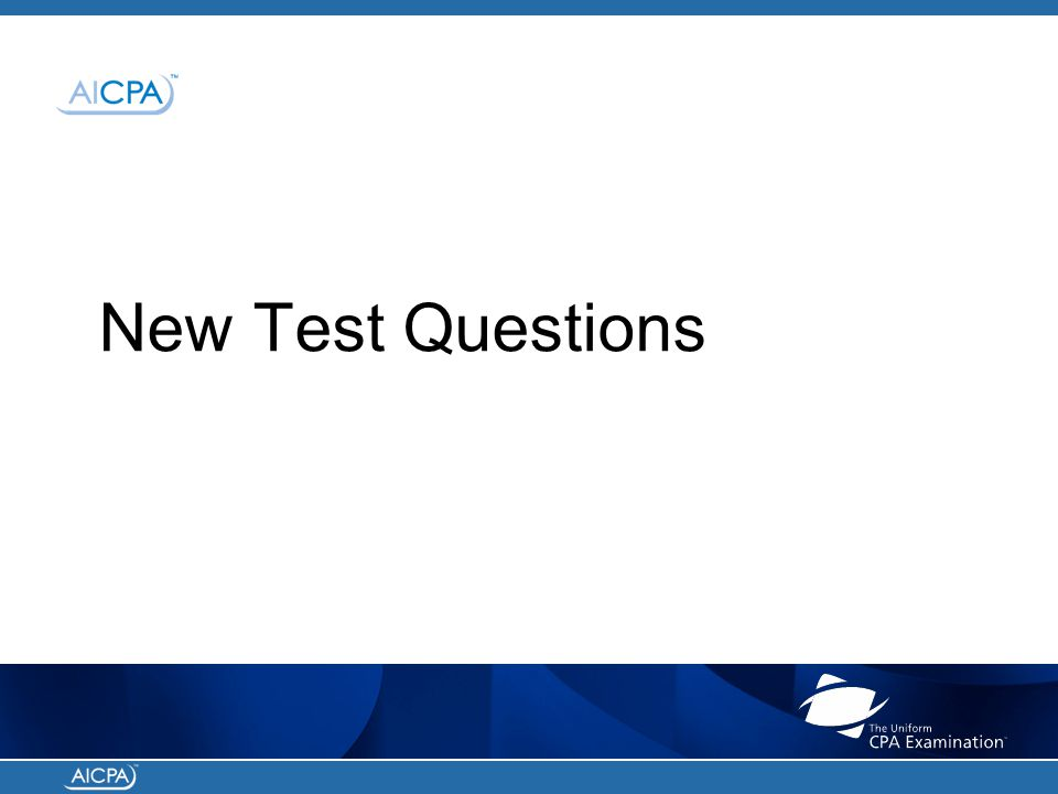 New Test Questions