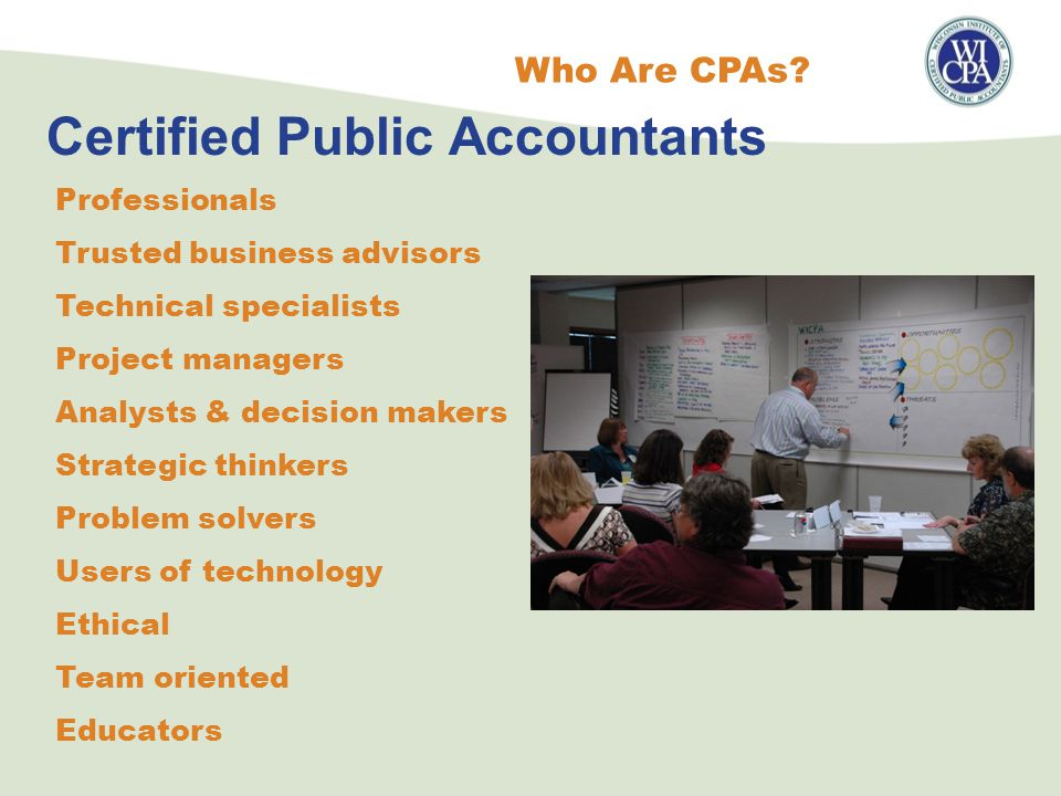 Certified Public Accountants Who Are CPAs.