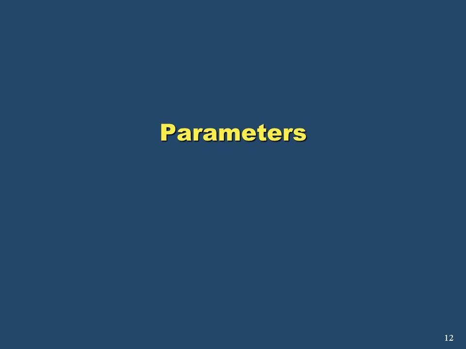 12 Parameters