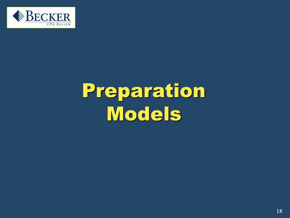 18 Preparation Models