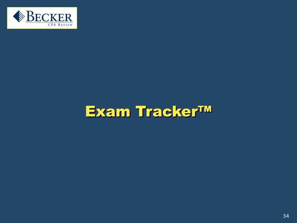 34 Exam Tracker™
