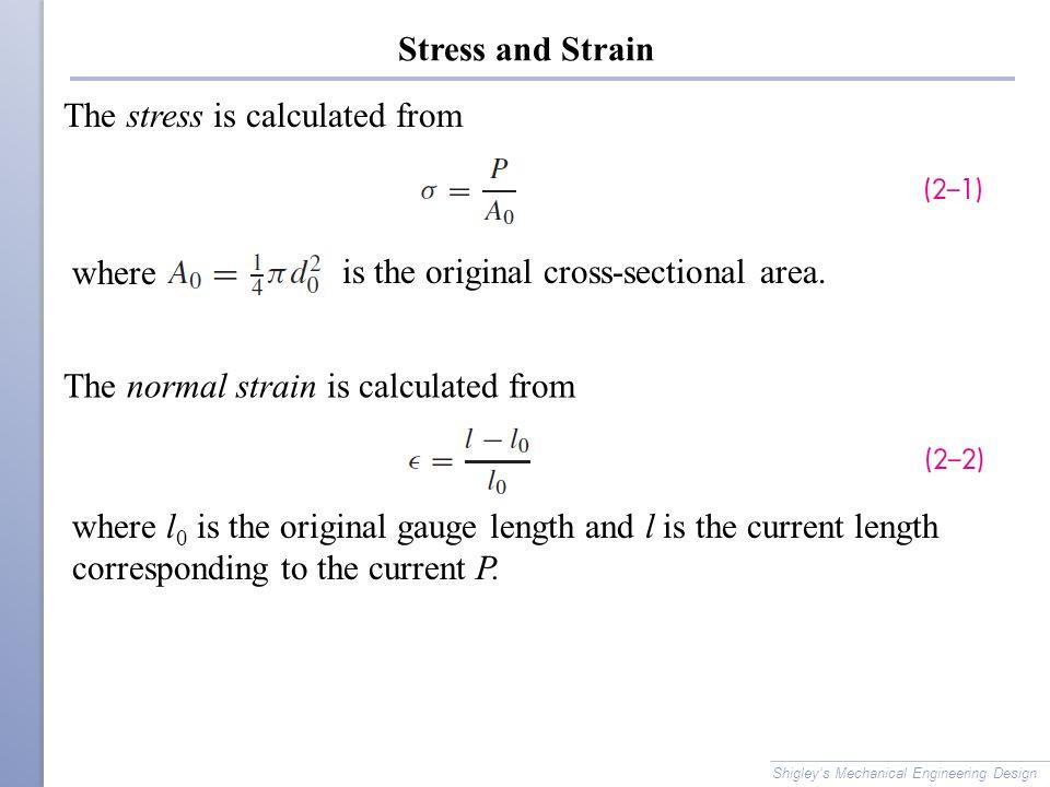 Stress-Strain Diagram Plot stress vs.