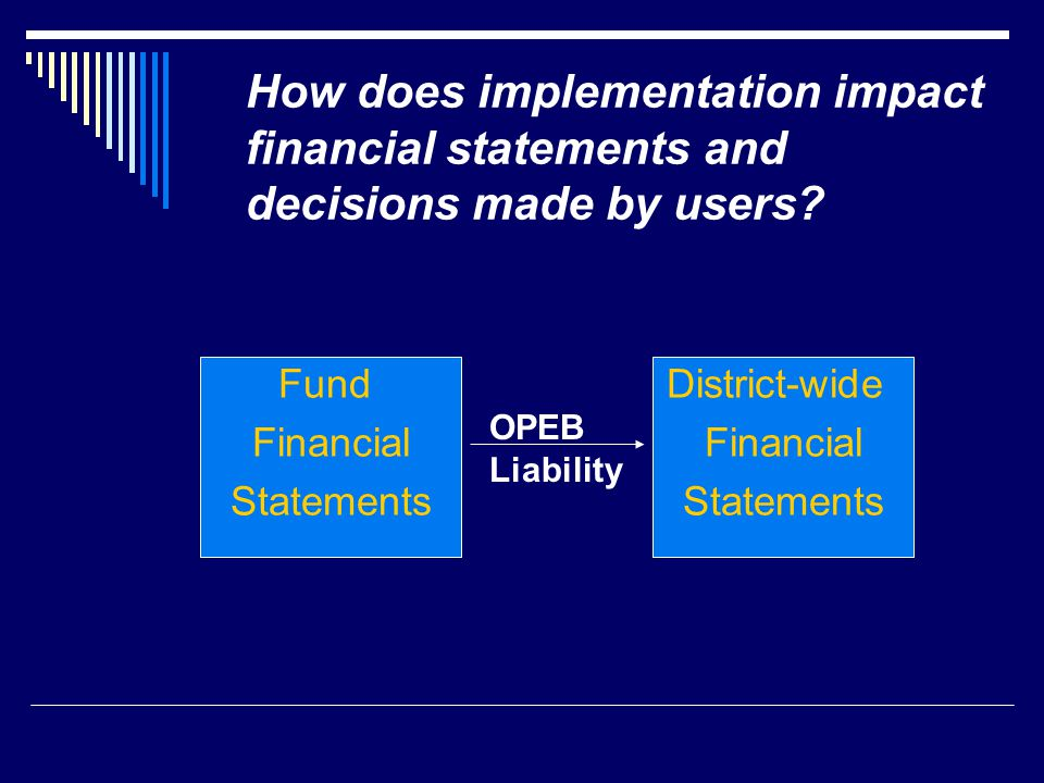 How does implementation impact financial statements and decisions made by users.