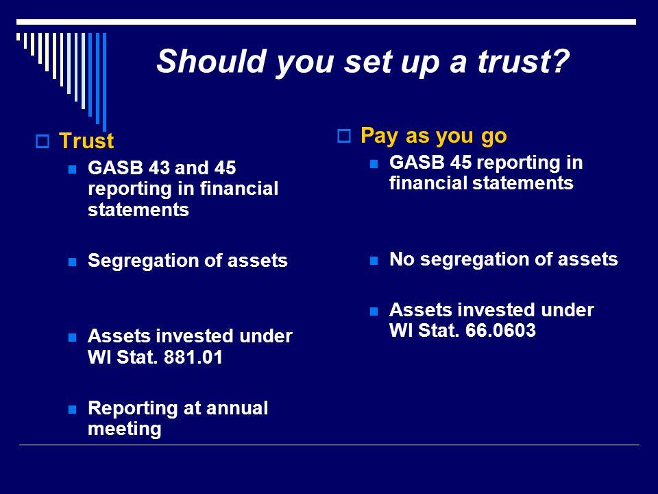 Should you set up a trust.