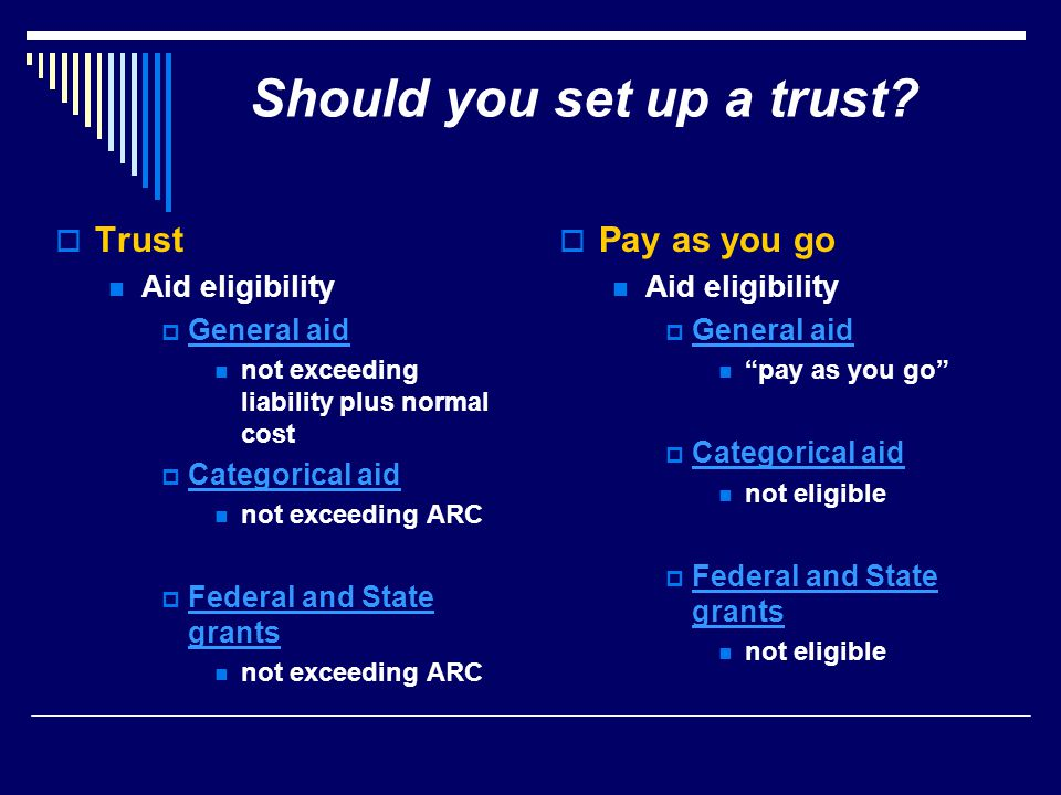 Should you set up a trust.