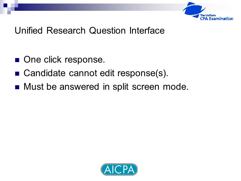 Unified Research Question Interface One click response.