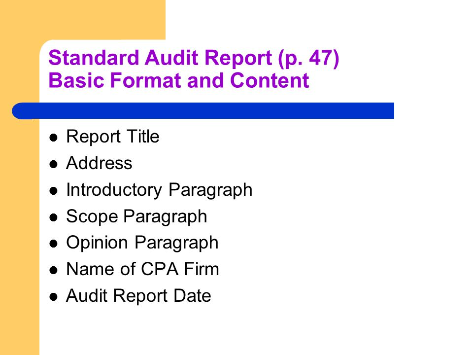 Standard Audit Report (p.