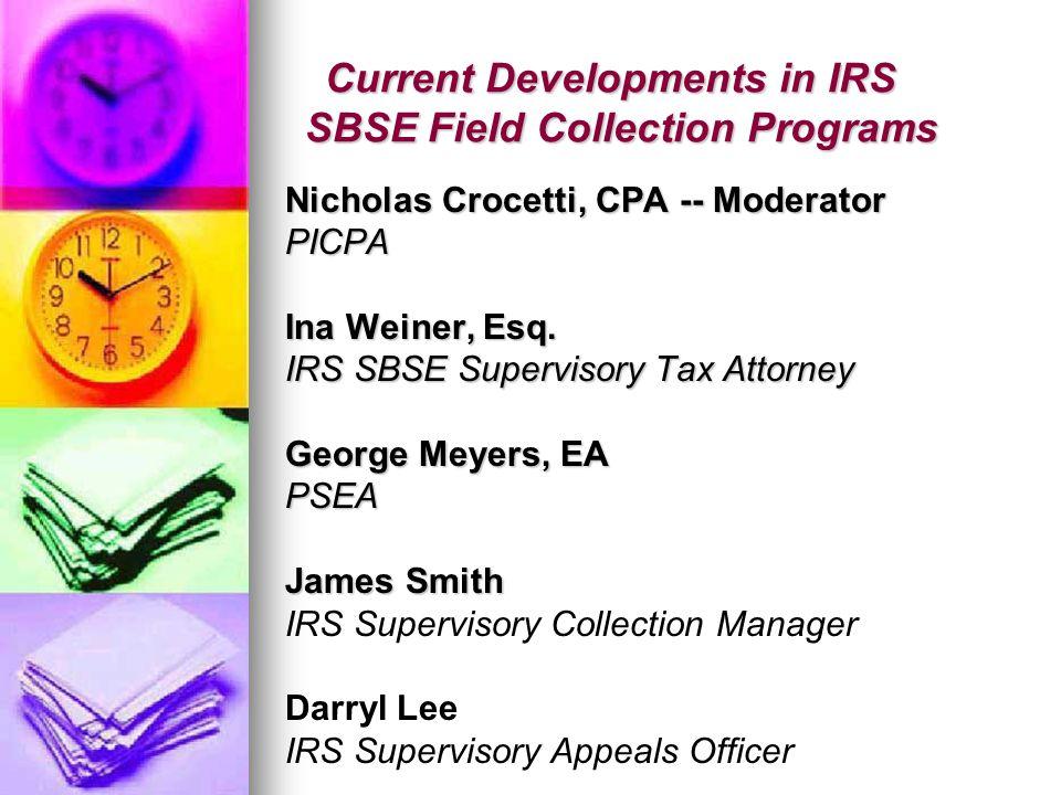 CURRENT DEVELOPMENTS IN IRS LB&I Program & International Compliance Issues Thomas Ostrander, Esq.