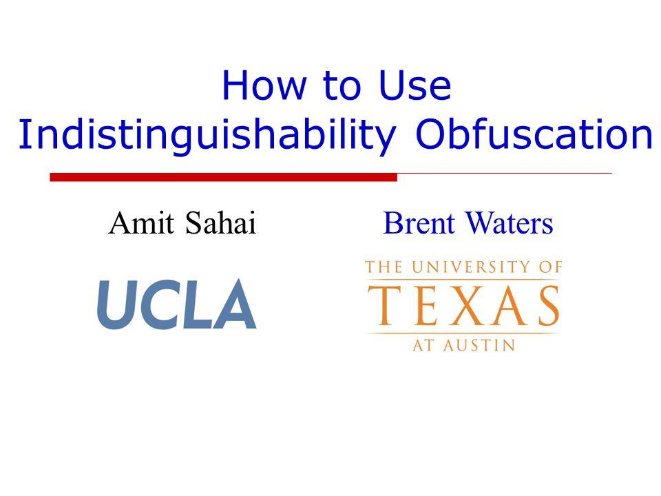 2 Code Obfuscation Goal: Make program (maximally) unintelligible Obfuscator