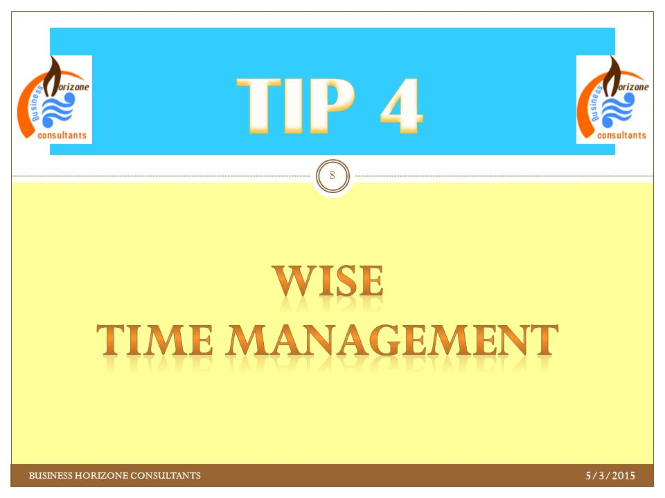 TIME MANAGEMENT Utilize the little time you have to add value to your position as a candidate.