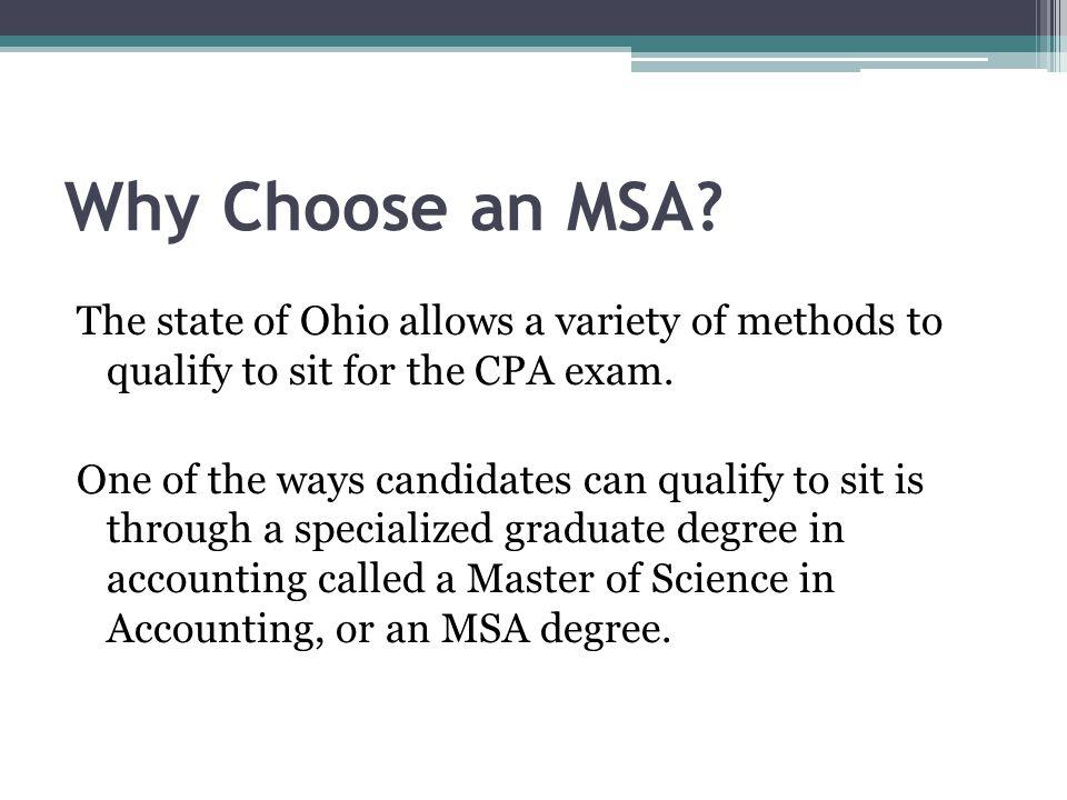 Why Choose an MSA.