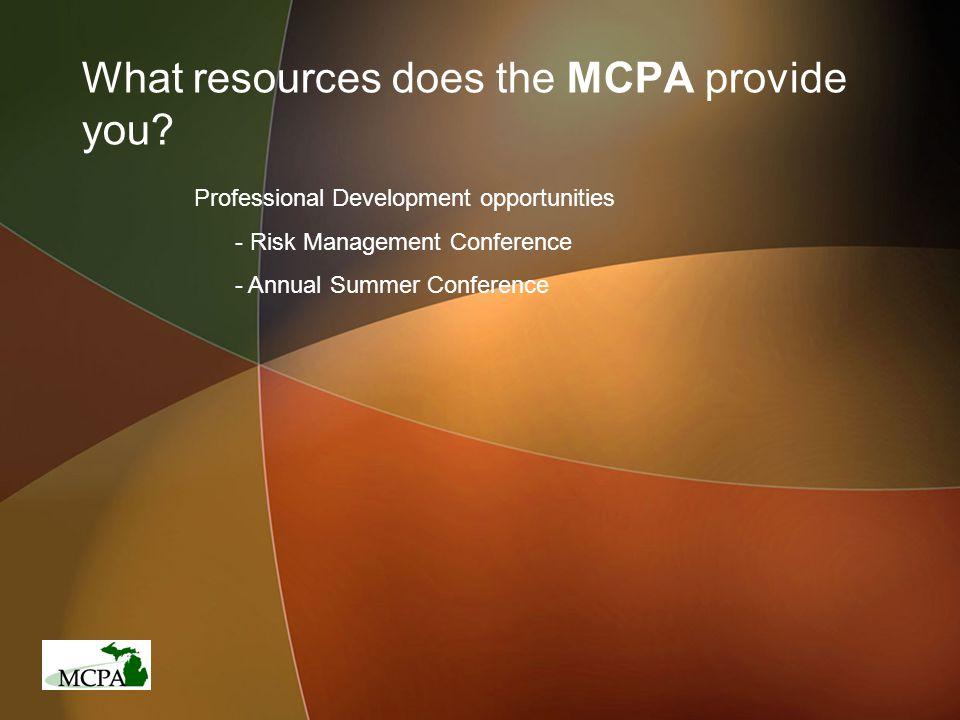 What resources does the MCPA provide you.