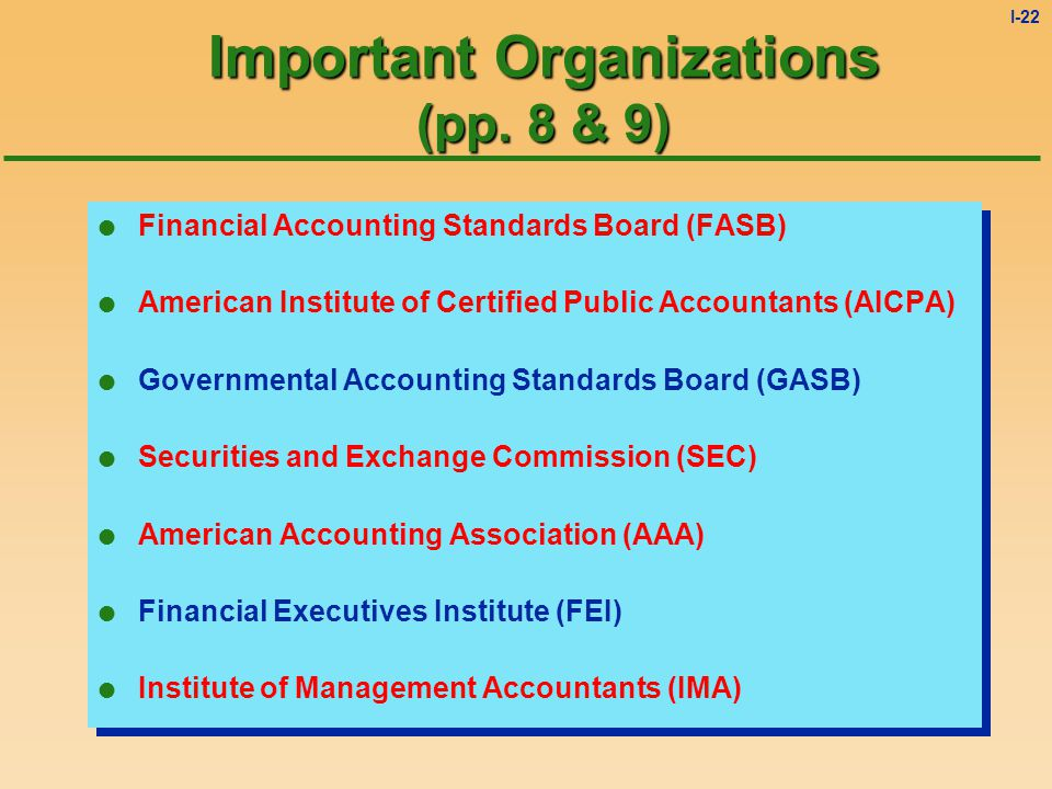 I-21 Managerial Accounting Generates information for internal use which is crucial for decision making Resource allocation decisions Financial decisio