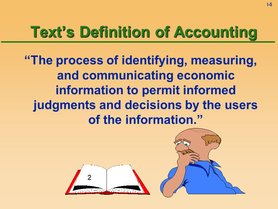 I-4 Major Challenge What do you think is the biggest problem/challenge for most students taking introductory accounting? The Vocabulary! Accounting is