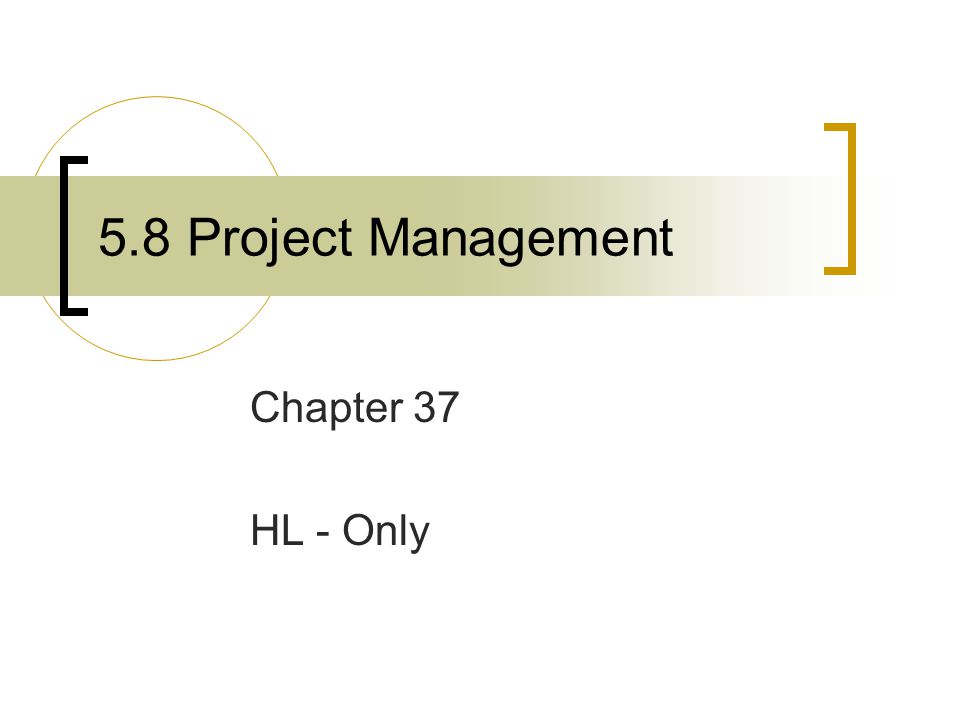 Project Management Project  A specific and temporary activity with a start and end date, clear goals, defined responsibilities and a budget.