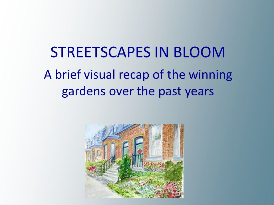 1997 123 Winchester 1998 94 Amelia Street 1999 31 Spruce Street 2000 419 Wellesley Street2001 331 Wellesley Street