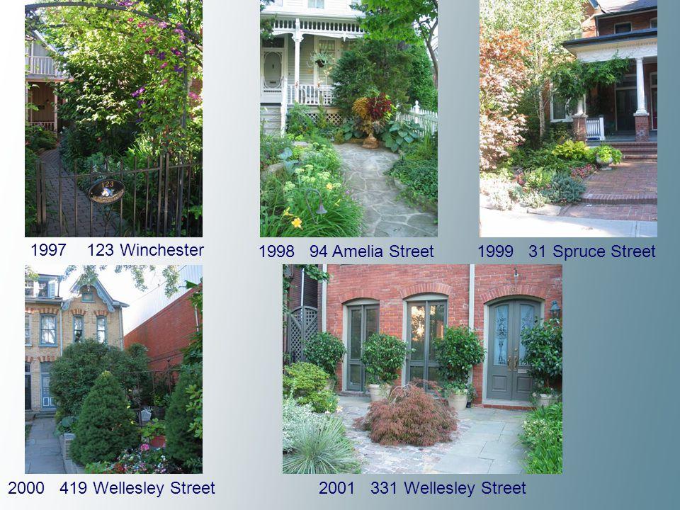 2002 76 Amelia Street 2003 60 Spruce Street 2004 334 Carlton Street 2005 2 Geneva Street 2006 28 Amelia Street 2007 5-7 Geneva Street