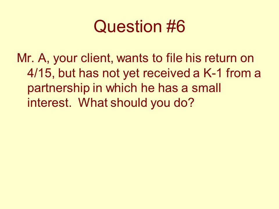 Question #6 Mr.
