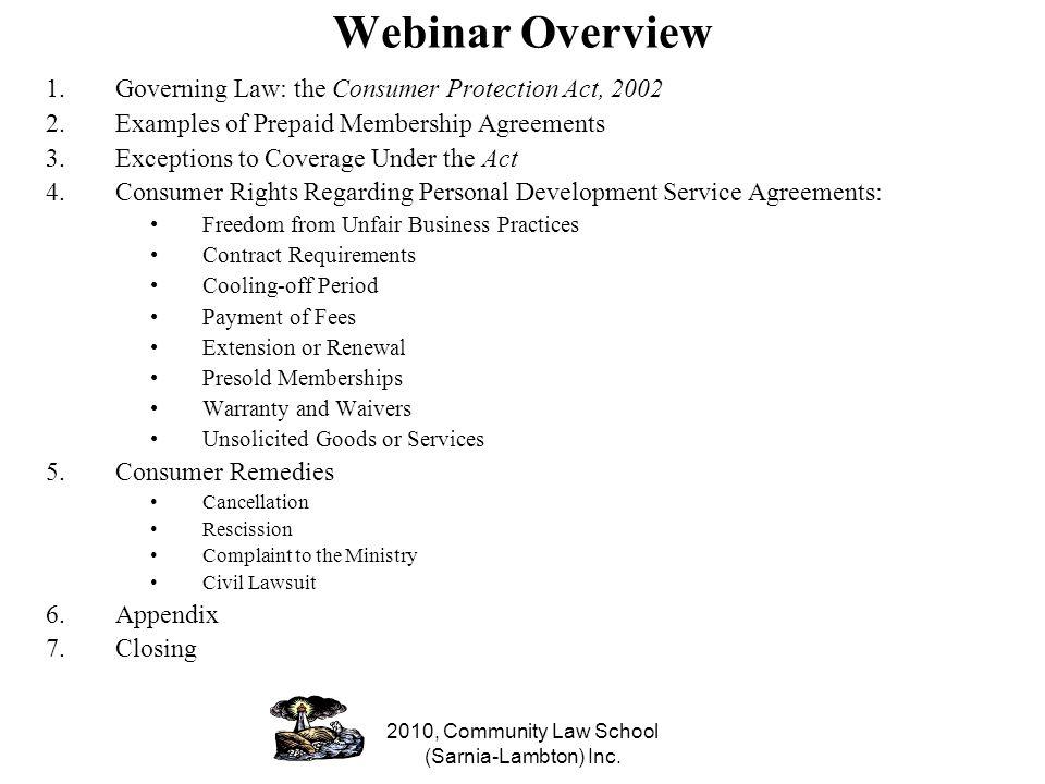 2010, Community Law School (Sarnia-Lambton) Inc.