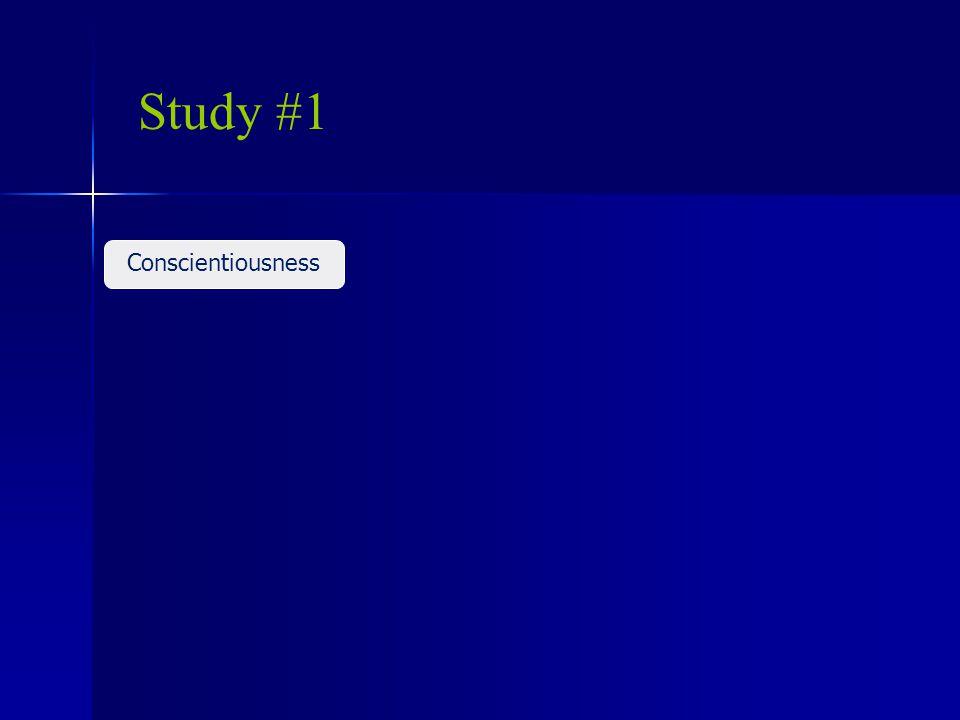 Study #1 Conscientiousness