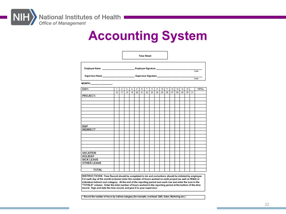 22 Accounting System