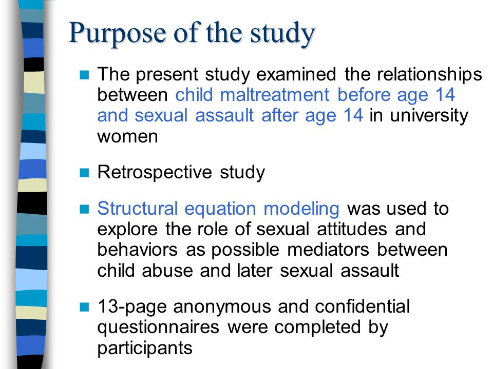 Method: Participants Women402 Introductory Psychology Students YoungMedian age = 19.0 (SD = 2.6) Range = 17 to 43 years Single96.5% were not married Canadian Citizenship94% Caucasian Asian 84% 11.4% Parents' Education 72% had attended college/university or had a professional degree Parents' Income (Cdn$) < $40 000/year: 14% $40 to $59 999/year: 23% $60 to $79 999/year: 25% $80 000+/year: 40%