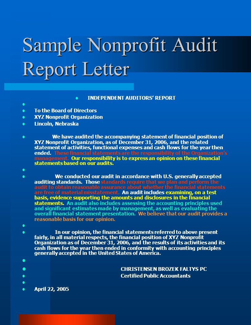 Audited Financial Statements What is an audit What is a compilation What is a review