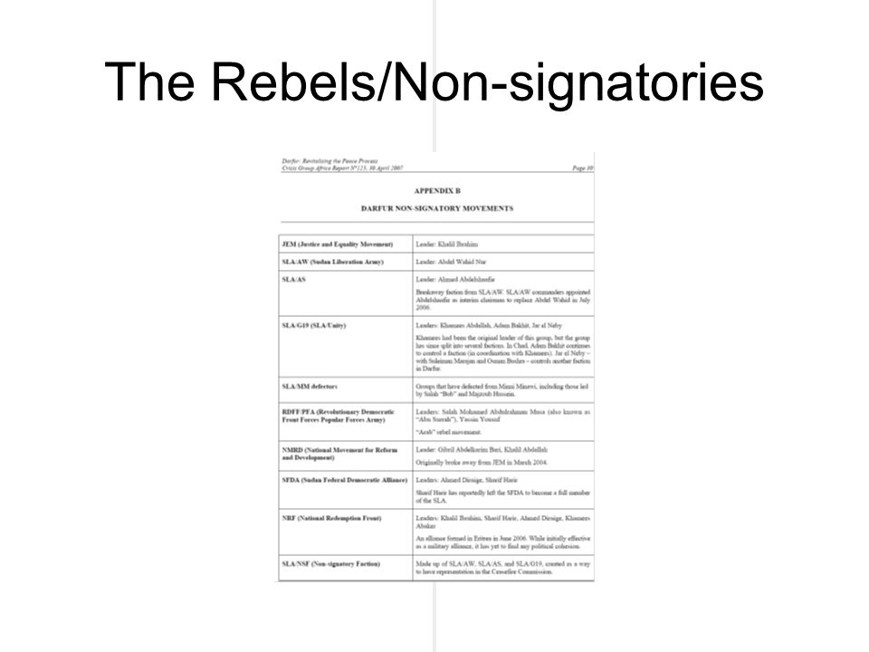 The Rebels/Non-signatories