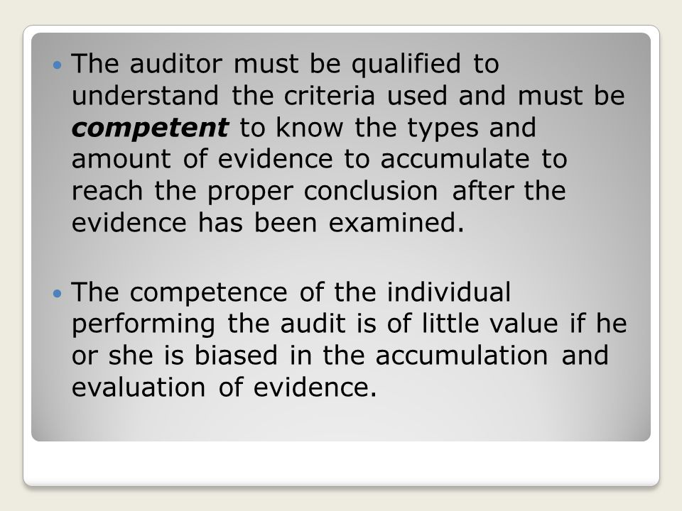 Audit of historical financial statements Management asserts that the statements are fairly presented.