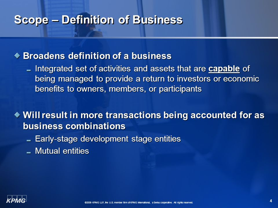 ©2009 KPMG LLP, the U.S. member firm of KPMG International, a Swiss cooperative.