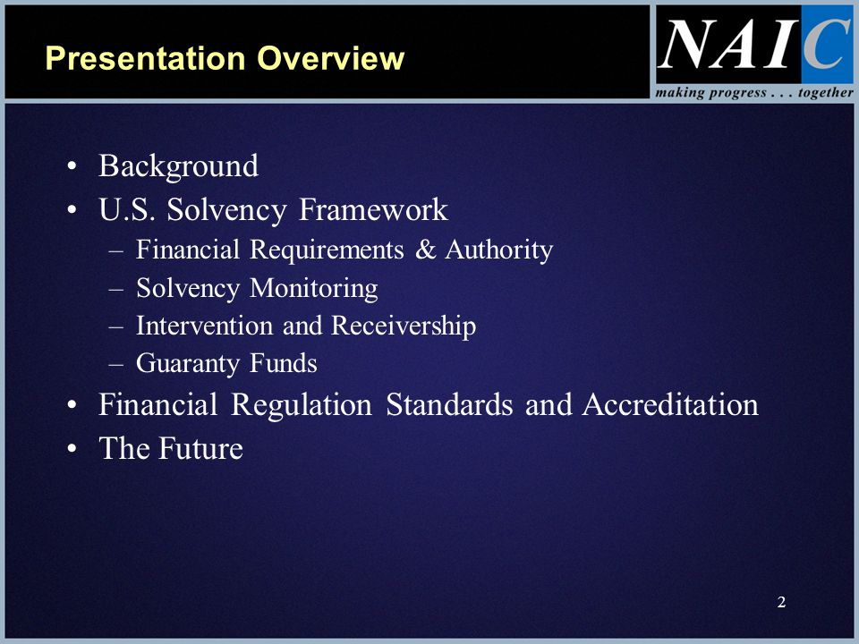 2 Presentation Overview Background U.S.